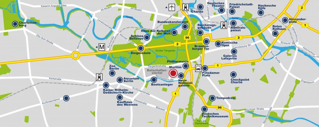 Maritim hotel map